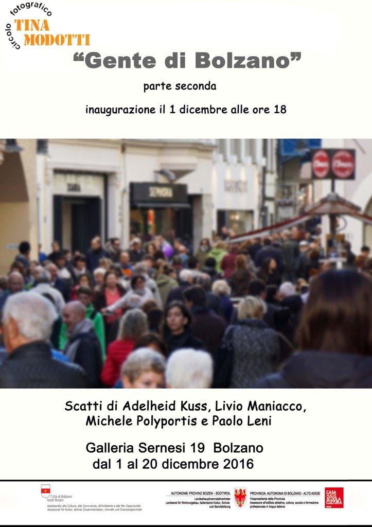 """Prossimamente Mostra """"Gente di Bolzano"""" Parte Seconda"""